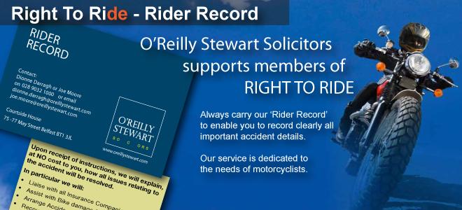 Rider Record - O'Reilly Stewart