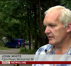 BBC Newsline photo moto trial ni John White