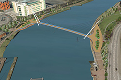 Lagan Footbridge Preferred Option pic 1-250